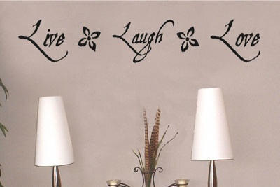 Live Laugh Love Vinyl Wall Lettering Word Sticky Art