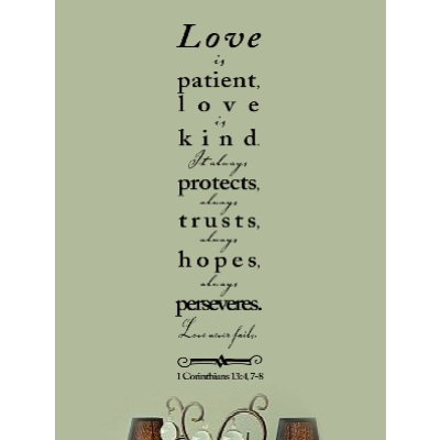 LOVE IS PATIENT LOVE IS KIND Quotes Like Success